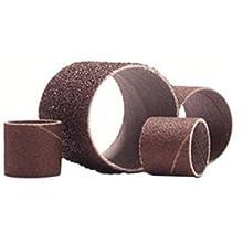 """Merit Abrasive Spiral Band, Resin Bond, Aluminum Oxide, 1"""" Inside Diameter x 1"""" Width, Grit 36  (Pack of 25)"""