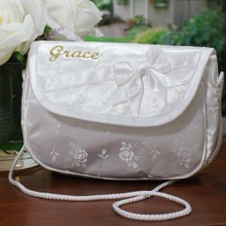 Embroidered First Communion Purse