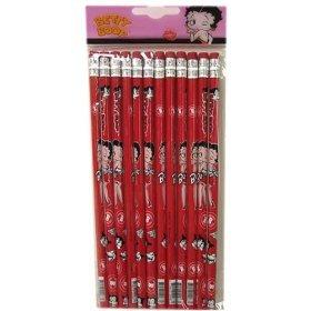 Black Betty Boop Pencil Set (12 Pcs)