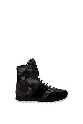 Sneakers Prada Donna Tessuto Verde Mimetico e Nero 3T6111NEROCAMOUFLAGE Verde 37.5EU
