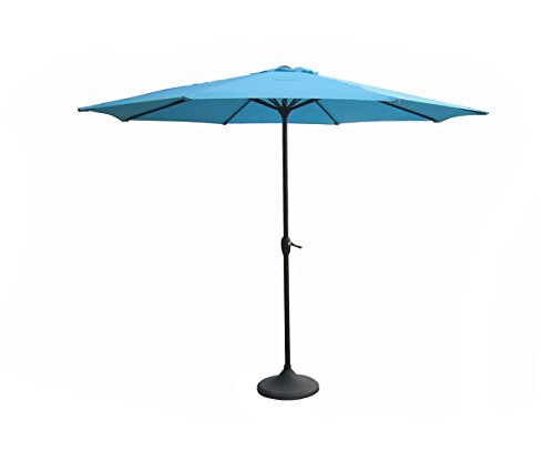 9' Outdoor Patio Market Umbrella with Hand Crank and Tilt