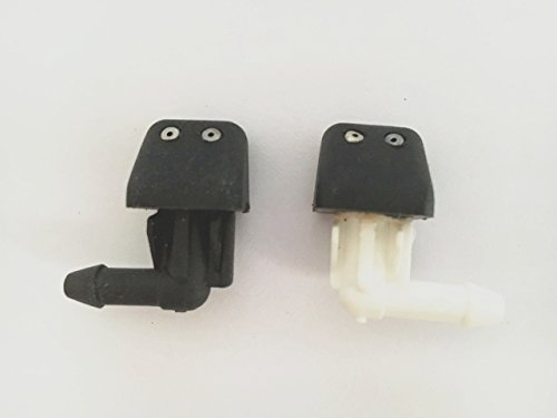 Car Storm Windshield Washer Nozzle Jet Sprayer Kit fit for Dongfeng Peugeot Double Hole Black and White set of 2 (Pontiac G6 Washer Nozzle compare prices)