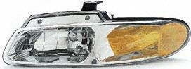 96-99 DODGE GRAND CARAVAN HEADLIGHT LH (DRIVER SIDE) VAN, Without Quad Lamps (1996 96 1997 97 1998 98 1999 99) 20-3164-88 4857041AB