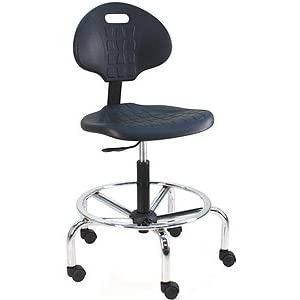 BenchPro LCT UC Deluxe Polyurethane Cleanroom Lab Chair Workbench Stool With