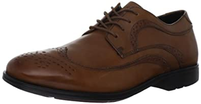(新品)乐步Rockport Men's Fairwood 2 Wingtip Dress Shoe男士皮鞋折后$87.99 中棕