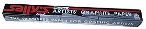Sallys SALLYGRAPH 18 pulgadas x 24 pulgadas Artistas de transferencia de papel de cera-libre - Grafito