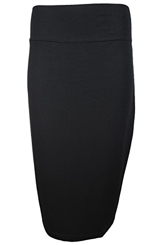 Eileen Fisher Womens Black Midi Pencil Skirt