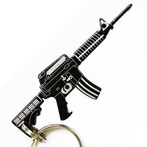m4 gun style key chain bottle opener bottle opener keychain kitchen dining. Black Bedroom Furniture Sets. Home Design Ideas