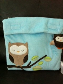Little Miracles Blanket & Backpack Plush Owl Keepsake Toy Pale Blue NEW - 1