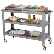 Cheap Broil King Grand Size Buffet Warming Cart with Individual Lids (B002JANA0Q)