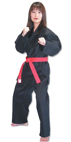 Black Light Weight Karate Uniform Size 1 (Tiger Claw Belt compare prices)