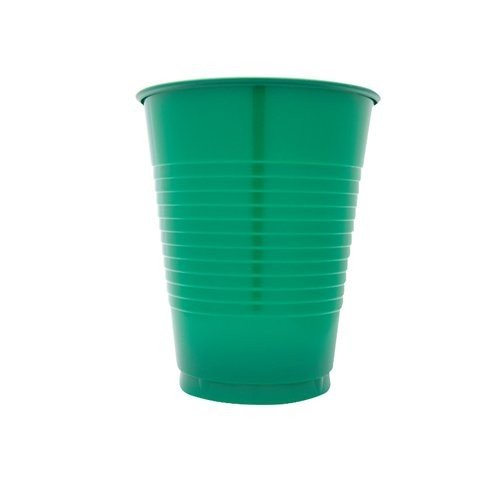Creative Converting 600 Count Case Touch Of Color Plastic Cups, 16-Ounce, Emerald Green