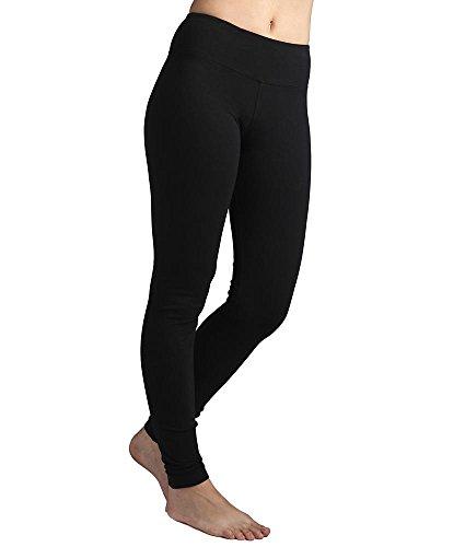 Hard Tail Flat Waist Ankle Yoga Leggings, M, Black