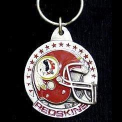 Washington Redskins Pewter Helmet Round Keychain