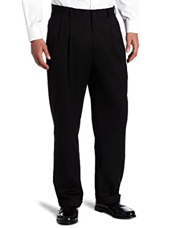 Dockers Men's Suit Separate Pant,Black Solid Herringbone,30x30