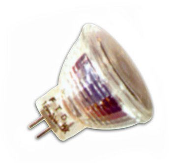 20 Watt MR11 Light Bulb with Cover Glass / 30 Degree Beam Spread / 12 Volt / G4 Base / FTD (ANSI Code)