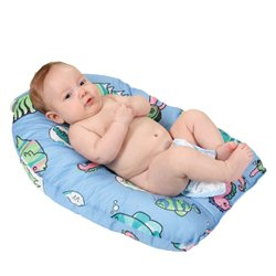 Leachco Safer Bather - Infant Bath Pad - Blue Fish