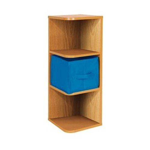 4 tier wall mount standing bookcase corner child office for Office corner shelf