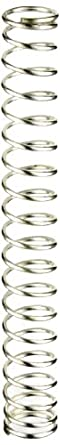 "Silver-Coated Beryllium Copper Compression Spring .393"" OD x .036"" Wire Size x 3.200"" Free Length (Pack of 10)"