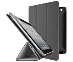 Holder Case passend für Apple passend für iPad 3 Belkin Pro Color Duo Tri-fold Folio Stand grau F8N784cwC01