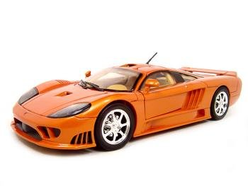 Saleen S7 Diecast Model Orange 1:18 Die Cast Car