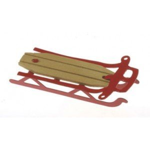 Dollhouse Red Flyer Sled - 1