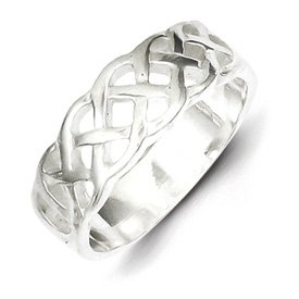 Genuine IceCarats Designer Jewelry Gift Sterling Silver Woven Ring Size 6.00