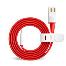 SEC USB Type C Flat Wire Data Cable for One Plus Two & Huwai Nexus 6P (Red & White)