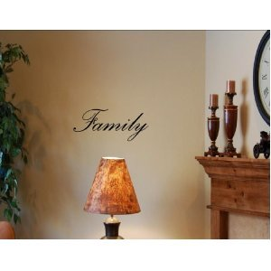 Family vinyl wall art quotes and sayings home for Home decorations amazon