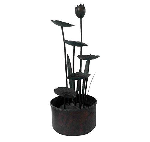Bentley garden - Fontaine de jardin - nénuphars/fleurs de lotus - acier inoxydable