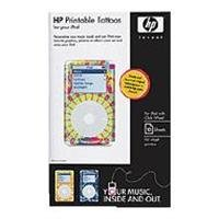 Hp Ipod Printable Tattoos - 10 Sheets (Q6625A ) back-1012112
