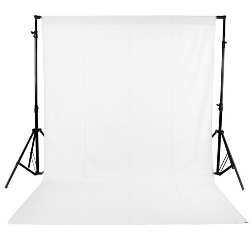 Neewer White 6-Inch. X 9-Inch. Muslin Collapsible Background Photography, Video Backdrop, Television Background with 3.4-Inch. Rod Pocket