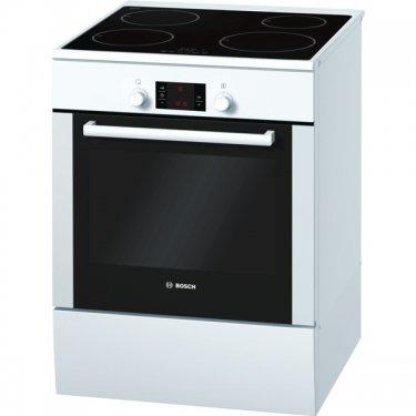 Bosch - Cuisinière électrique a 67l 4 feux induction blanc - SERIE 2 - HCE748120F
