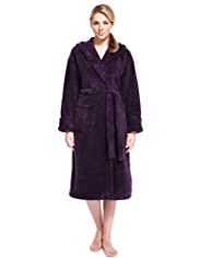 Supersoft Hooded Shawl Collar Cosy Dressing Gown