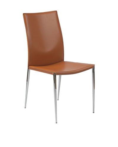 Eurostyle Max Side Chair, Cognac