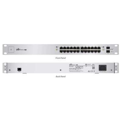 Ubiquiti UniFi Switch - 24 Ports - Manageable - 24 x POE+ - 2 x Expansion Slots - 10/100/1000Base-T, 1000Base-X - Rack-mountable - US-24-250W