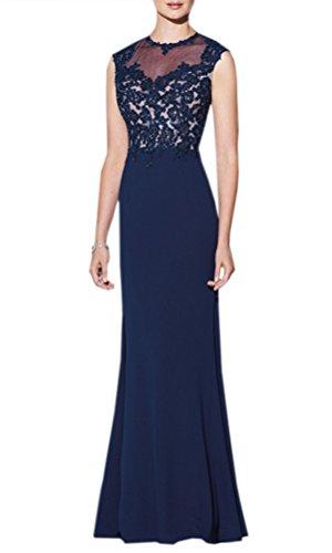 TSRJ Women's Applique Beaded Jewel Chiffon Mermaid Floor Length Party Dress Photo Color US4