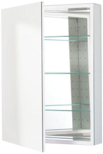 Robern cb plm2430wle pl series left side flat mirror for Flat bathroom mirror