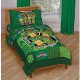 Teenage Mutant Ninja Turtles 4 Piece Toddler Bedding Set
