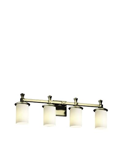 Justice Design Group Fusion 4-Light Bath Bar, Antique Brass