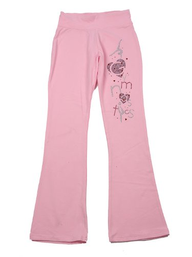 Lizatards Gymnastics Crystal Pants In Pink - Small (6-8) front-111135