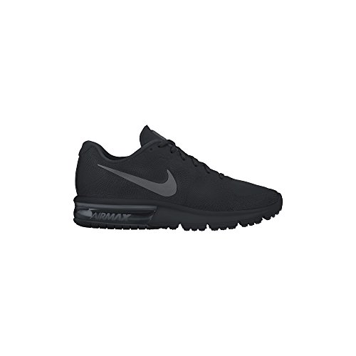 Nike Air Max Sequent Mens Running Shoes Black/Dark Grey-Black 719912-020 (10) (Nike Air Shoes Men compare prices)