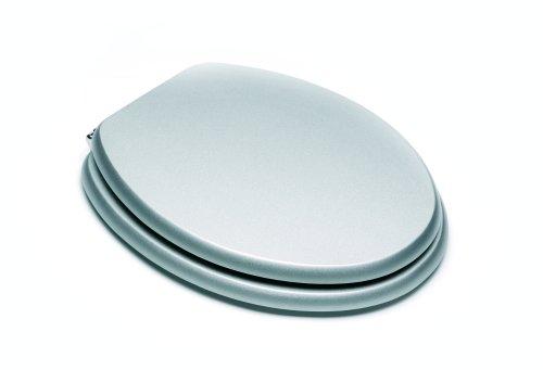 Croydex Wood MDF Toilet Seat, Silver
