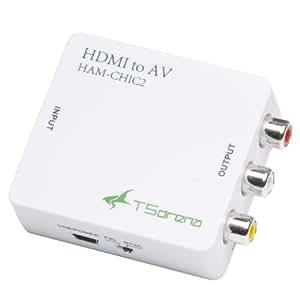 TSdrena HDMI → アナログ(コンポジット) 小型コンバーター HAM-CHIC2 [相性保証付き]