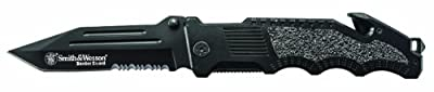 Smith & Wesson Border Guard 2 Rescue Knife SWBG2TS, Black by Smith & Wesson