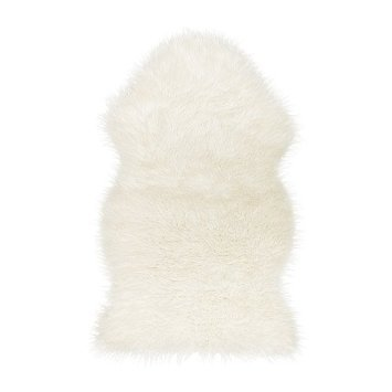 Faux Fur Sheepskin Throw Rug Blanket Chair Cover White Plush Tejn Ikea