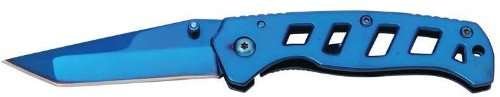 Maxam Liner Lock Knife- Blue