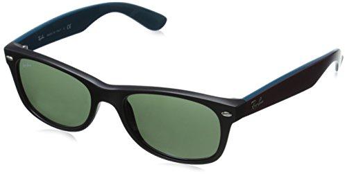 Ray-Ban 0RB2132 Square Sunglasses, Black Green & Top Bordo, 52 mm