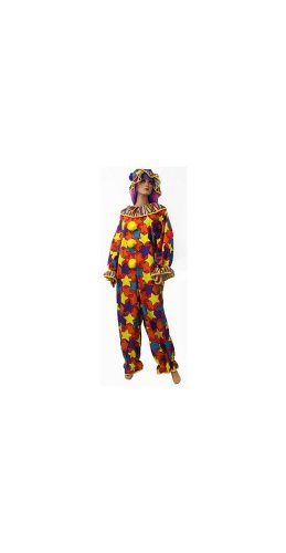Clown Jumpsuit Costume - Adult