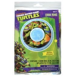 "Teenage Mutant Ninja Turtles Swim Ring 20"" TMNT Fun Pool Toy"